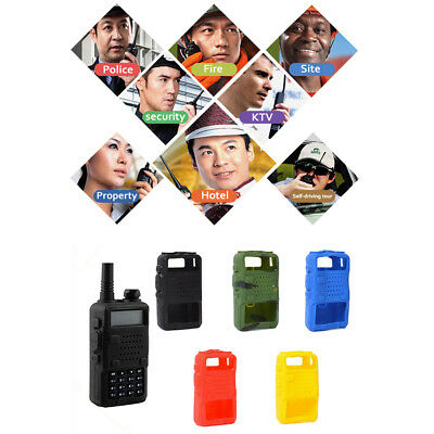 Rubber Cover Protect Case Soft Silicone For BaoFeng UV-5R BF-F8+UV Two Way Radio