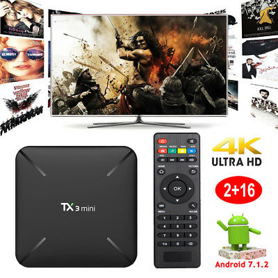 2018 2+16GB Android 7.1.2 Nougat TV BOX TX3MINI H Amlogic S905W Quad core WIFI