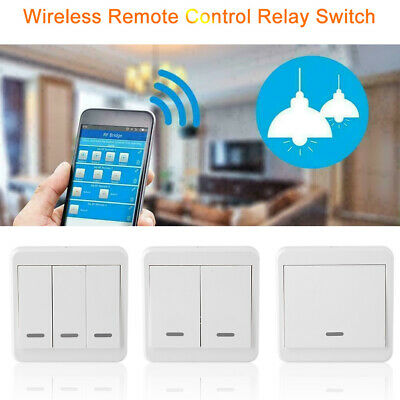 433MHz Wireless Remote Control Switch 86 Wall Panel Transmitter RF 1 2 3 Button