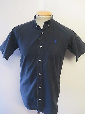 Ralph Lauren POLO men's Black Short Sleeve Casual Shirt Regular Fit Size S 34-36