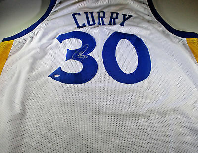 519e55fd68fb Stephen Curry   Autographed Golden State Warriors White Custom Basketball  Jersey