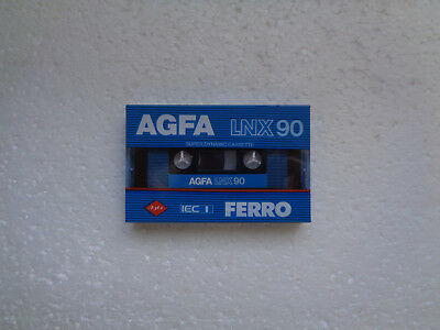 Vintage Audio cassette AGFA LNX 90 * Rare From 1982 *