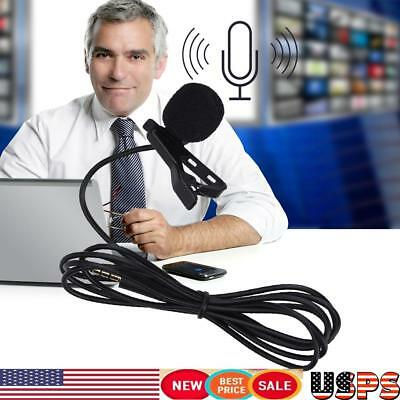 Clip-on Lavalier Omni-directional Condenser Wireless Professional Microphone US