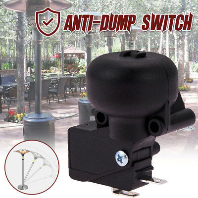 Anti-Dump Micro Switch Tilt Shut Off Switch Electric Heater Black AC 220V 16A