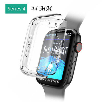 Soft Ultra-Slim Clear TPU Protect Case Cover For Apple Watch Series 4 40 /44MM