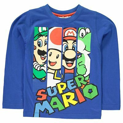Nintendo Super Mario Blue Long Sleeved T-Shirt/Top - BNWT