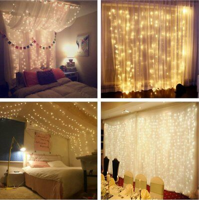 100/300/400 LEDS Mains Plug In Fairy Christmas String Lights Garden Waterproof