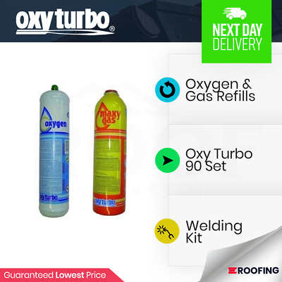 Oxyturbo Spare Gas & Oxygen Cylinders Refill Turbo Set 90 Kit | Welding Kit