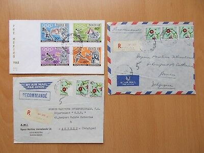 Rwanda - 2 commercial covers & 1 first day cover. See pics for info.