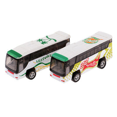 Collectibles 1:200 Scale Alloy Bus Model N Z for Trail Railroad Sceney 2Pcs