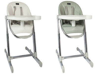 Luxury Leatherette High Chair with Crib attachment