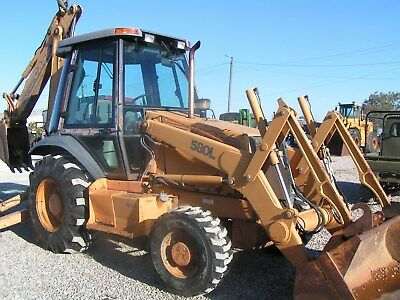 Case 580 L Tractor Loader Backhoe 4X4 Cab Exhoe New Tires Only 2900 Hours