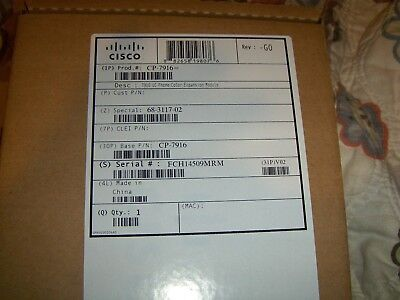Cisco 7916 (CP-7916) UC Phone Color Expansion Module (68-3117-02) NEW IN-BOX