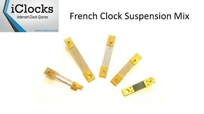 5x French Suspension Mix for Clock, Springs pendulum rods, UK Seller (5fm)