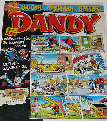 The Dandy Comic - Various isssues from 1997 to 1998