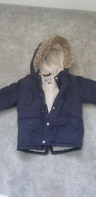 boys next coat with hood 2 - 3 years parker style