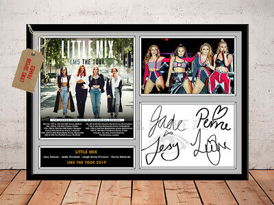 LITTLE MIX SIGNED Photo Print LM5 TOUR 2019 Free Postage