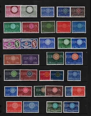 1960 Europa sets Common Design types, cat. $ 111.35
