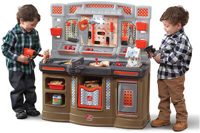 Kids Tool Bench Pretend Play Set with Power Tools Work Light 45 pc Accessories