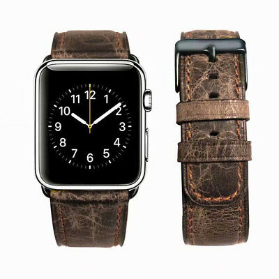 40/44mm Retro Genuine Leather iWatch Band Strap for Apple Watch 5 4 3 2 38/42mm