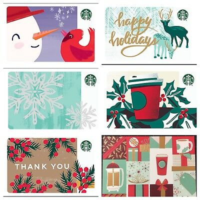*NEW* 2018 Lot of 5 Starbucks CORPORATE Holiday Gift Cards