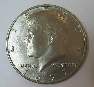 1977 John F Kennedy Clad Half Dollar In Choice BU Condition From Mint Set  DUTCH