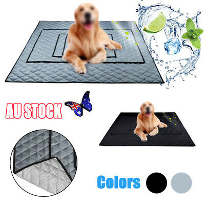 Chilly Mat Cooling Pet Dog Cat Bed Indoor Summer Cool Pad Cold Oxford Cloth Mat