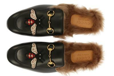 54cd1394b3b New Gucci Princetown Black Leather Horsebit Detail Slipper Loafer Shoes 5.5  us 6