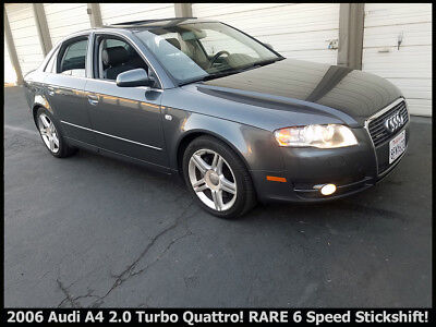 2006 Audi A4 QUATTRO 2.0T NICE 2006 AUDI A4 QUATTRO 2.0 TURBO WITH RARE 6 SPEED MANUAL TRANSMISSION!