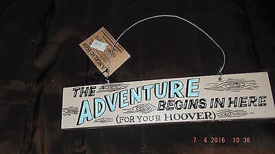 THE ADVENTURE BEGINS, beautiful high quality ANGELIC HEN wooden  sign
