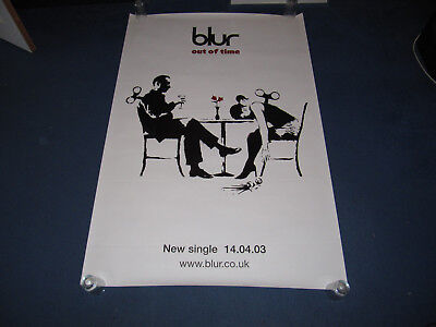 BLUR - OUT OF TIME - 2003 UK BANKSY PROMO POSTER - GIANT 60 x 40 INCHES