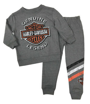 Harley-Davidson Baby Boys' 2-Piece French Terry Jogger Set, Gray 2050896