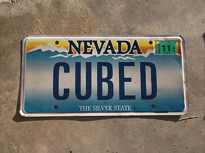 Nevada 2011 vanity License Plate  # CUBED