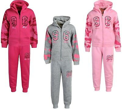 Girls Tracksuits Jogging Suits | Hoodie Jacket & Joggers Set | Ages 2-12 Years