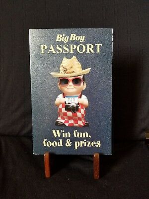 Rare- Bob's Big Boy Passport