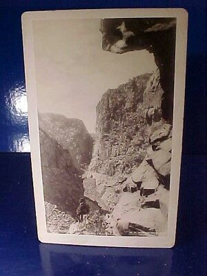 Orig Late 19th Wm H.JACKSON Cabinet Card PHOTO-The ROYAL GORGE View Grand Canyon