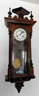 walnut and ebonised vienna wall clock c1900s