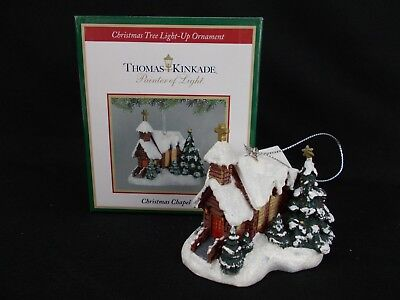 "THOMAS KINKADE 2009 ""Christmas Chapel I"" Teleflora Light Up Ornament"