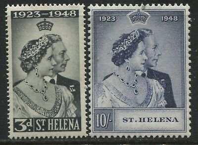 St. Helena KGVI 1948 Silver Wedding set mint o.g.