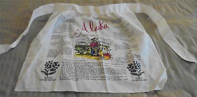 NWOT Off White Cotton Linen Alaska Sourdough Delights Apron Nonsmoking