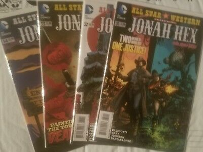 Jonah Hex #31 32 33 34 comic book lot from DC comics and the new 52