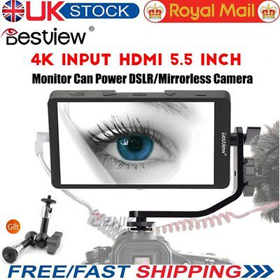 Bestview S5 5.5'' 4K Camera HDMI Video Filed Monitor for DSLR Camera& Stabilizer