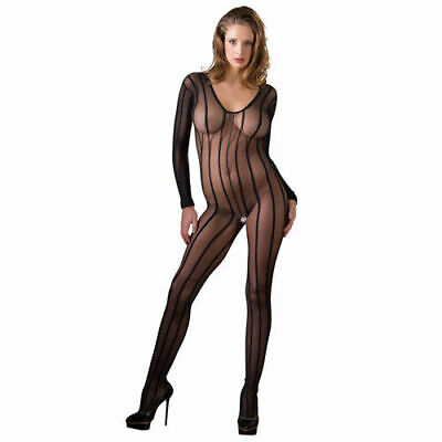 Mandy Mystery lingerie Catsuit schwarz S L Overall Anzug Body Bekleidung