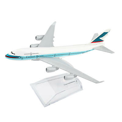 16cm Boeing 747 Cathay Pacific Airlines Aircraft Plane Diecast Model
