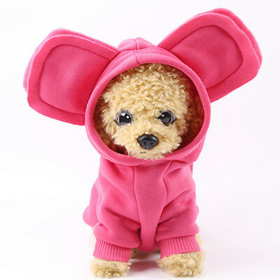 Hot Pet Dog Cat Puppy Warm Hoodie Coat Clothes Cute Costume Apparel Outfit Soft