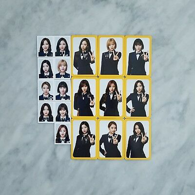 TWICE ONCE  Official Fan Club Goods 2nd Term Photocard + Photo - Member SET