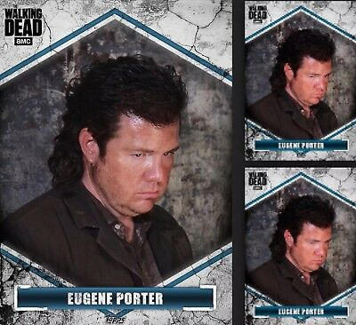 3x Topps WALKING DEAD DIGITAL Card Trader BROKEN BLUE Wave 2 EUGENE PORTER