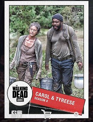 Topps WALKING DEAD DIGITAL Card Trader TOGETHER CAROL & TYREESE WAVE 2 Insert
