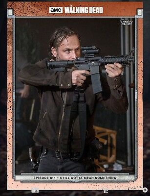 814 RED RICK GRIMES Topps The Walking Dead Digital Card Trader TWD