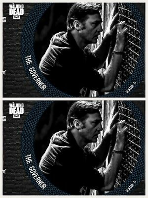 2x SERPENTINE BLUE THE GOVERNOR WAVE 2 Topps Walking Dead Digital Card Trader